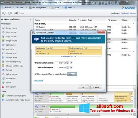 Screenshot Acronis Disk Director Windows 8