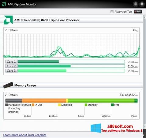 Screenshot AMD System Monitor Windows 8