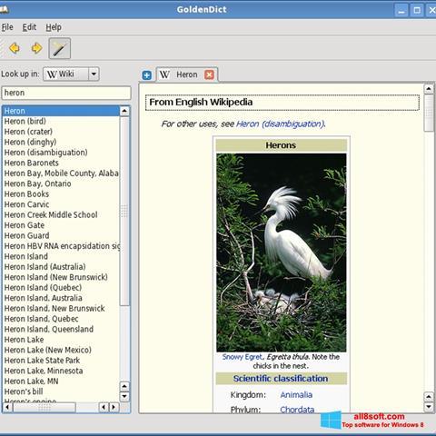 Screenshot GoldenDict Windows 8