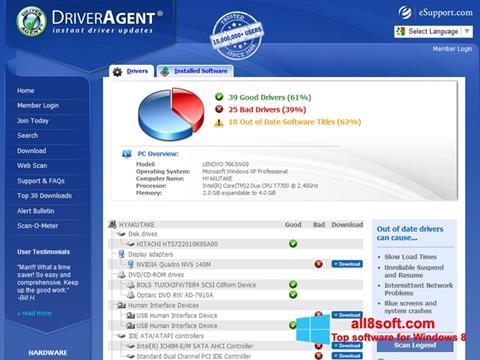 Screenshot DriverAgent Windows 8