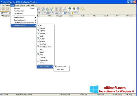 Screenshot CommView for WiFi Windows 8