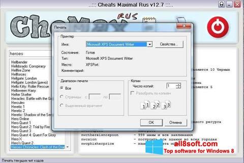 Screenshot CheMax Windows 8