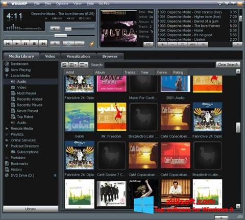 Screenshot Winamp Windows 8