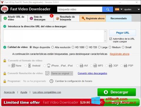 Screenshot Fast Video Downloader Windows 8
