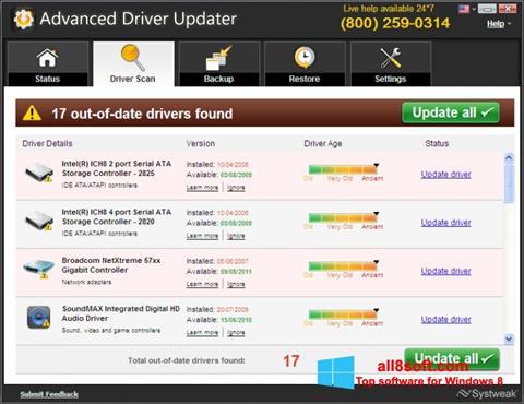 Screenshot Advanced Driver Updater Windows 8