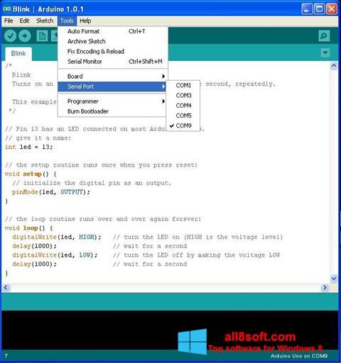 Screenshot Arduino Windows 8