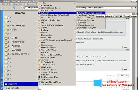 Screenshot AviSynth Windows 8