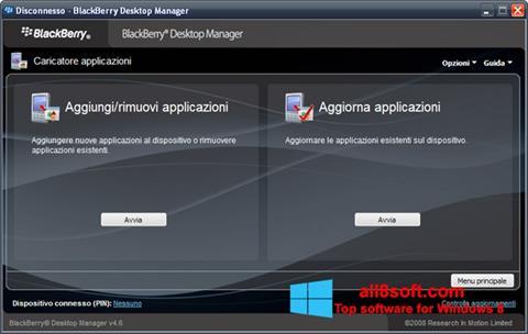 Screenshot BlackBerry Desktop Manager Windows 8