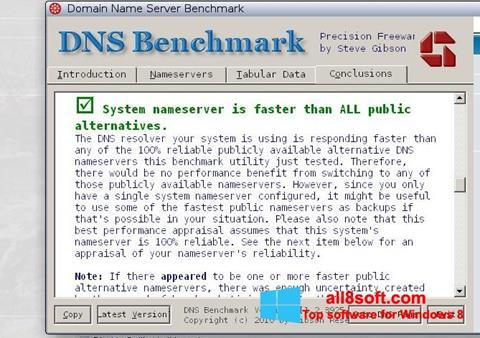 Screenshot DNS Benchmark Windows 8
