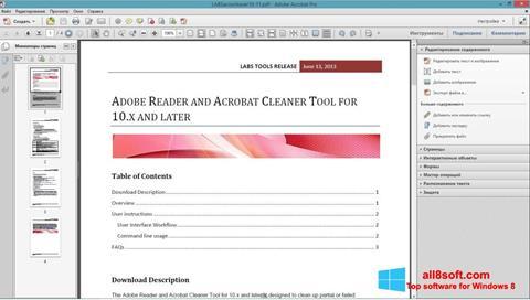 Screenshot Adobe Acrobat Pro Windows 8