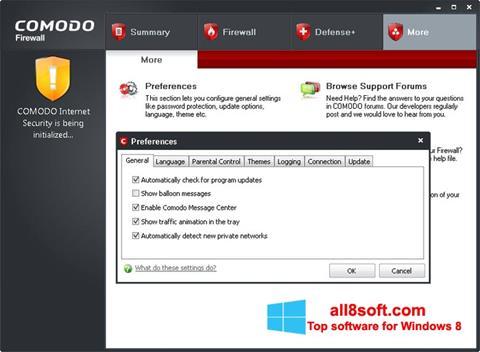 Screenshot Comodo Firewall Windows 8