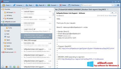 Screenshot FoxMail Windows 8