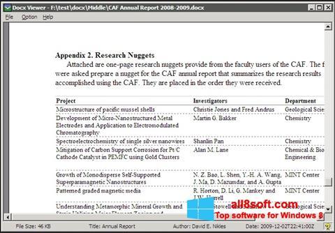 Screenshot DocX Viewer Windows 8