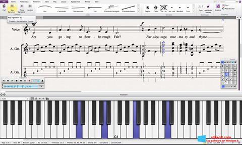 Screenshot Sibelius Windows 8