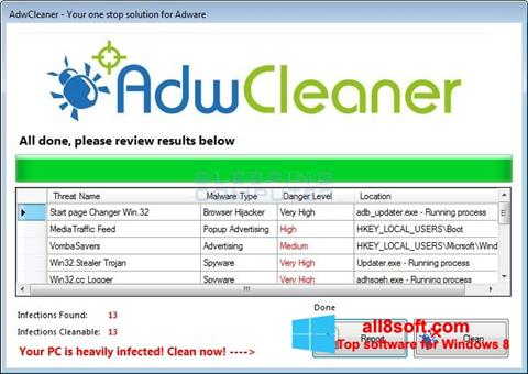 Screenshot AdwCleaner Windows 8