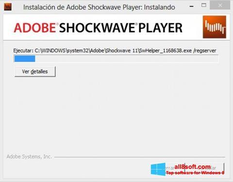 Screenshot Adobe Shockwave Player Windows 8