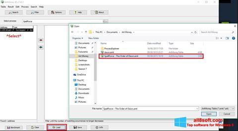 Screenshot ArtMoney Windows 8