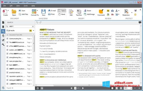 Screenshot ABBYY PDF Transformer Windows 8