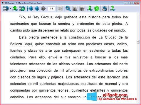 Screenshot FBReader Windows 8