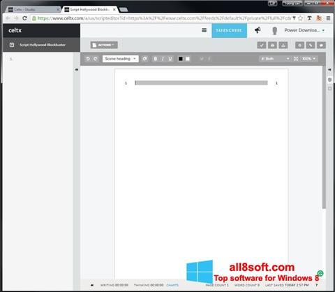 Screenshot Celtx Windows 8