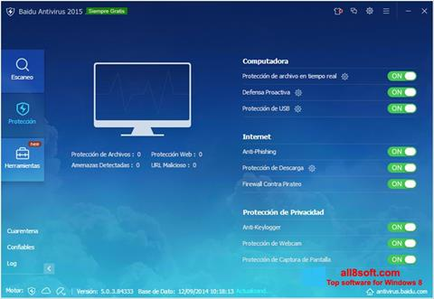 Screenshot Baidu Antivirus Windows 8