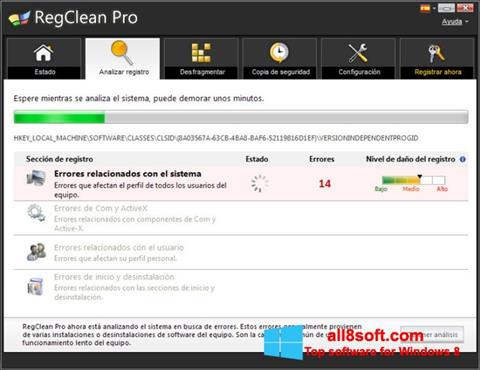 Screenshot RegClean Pro Windows 8