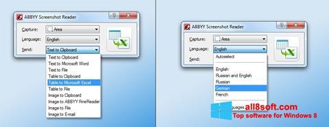 Screenshot ABBYY Screenshot Reader Windows 8