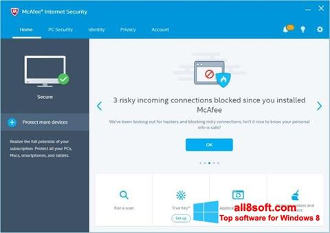 Screenshot McAfee Windows 8