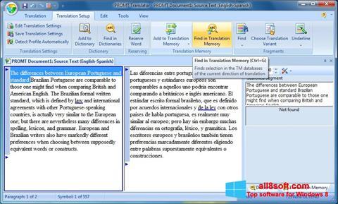 Screenshot PROMT Windows 8