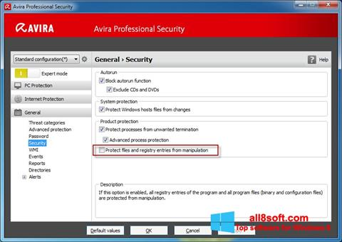 Screenshot Avira Professional Security Windows 8