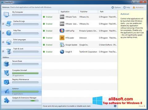 Screenshot CleanMyPC Windows 8