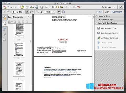 Screenshot Adobe Acrobat Windows 8