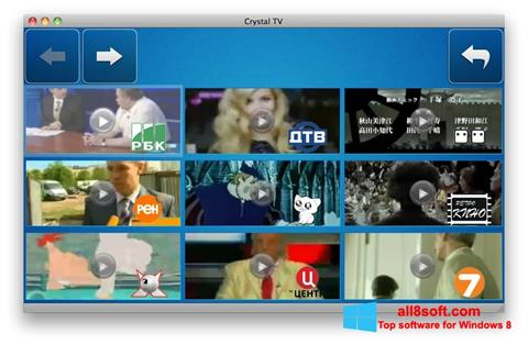 Screenshot Crystal TV Windows 8
