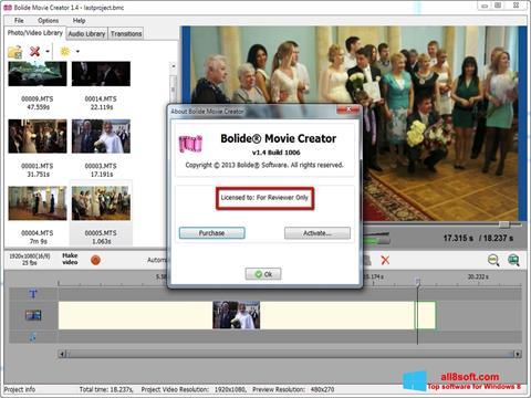 Screenshot Bolide Movie Creator Windows 8