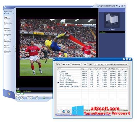Screenshot SopCast Windows 8