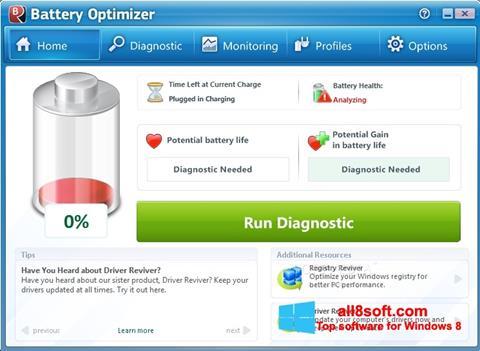 Screenshot Battery Optimizer Windows 8