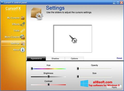 Screenshot CursorFX Windows 8