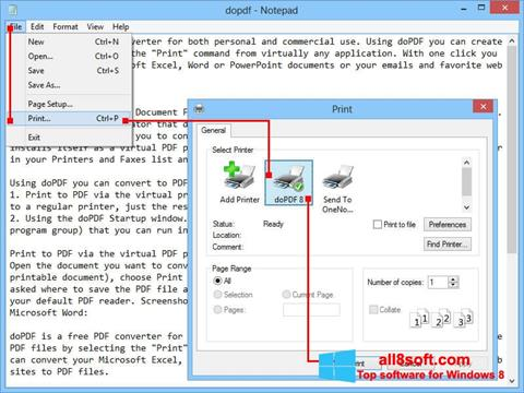 Screenshot doPDF Windows 8