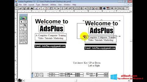 Screenshot Adobe PageMaker Windows 8