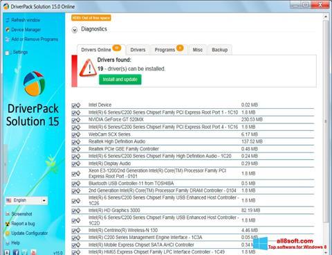 Screenshot DriverPack Solution Windows 8