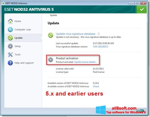 Screenshot ESET NOD32 Windows 8
