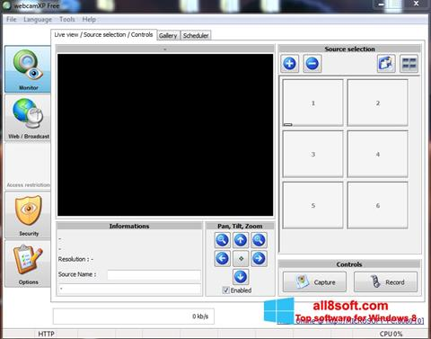 Screenshot webcamXP Windows 8