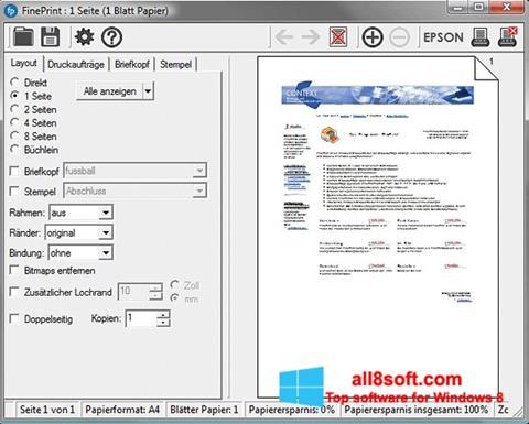 Screenshot FinePrint Windows 8