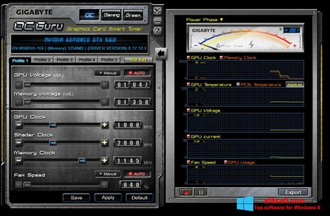 Screenshot GIGABYTE OC Guru Windows 8