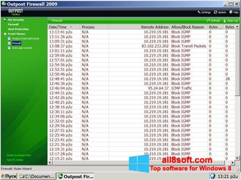 Screenshot Outpost Firewall Free Windows 8
