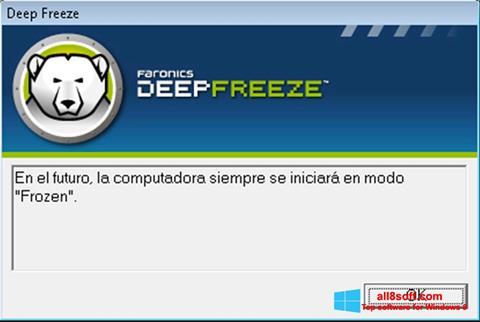 Screenshot Deep Freeze Windows 8