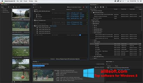 Screenshot Adobe Media Encoder Windows 8