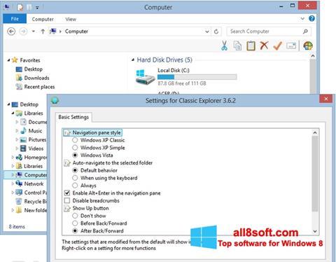 Screenshot Classic Shell Windows 8