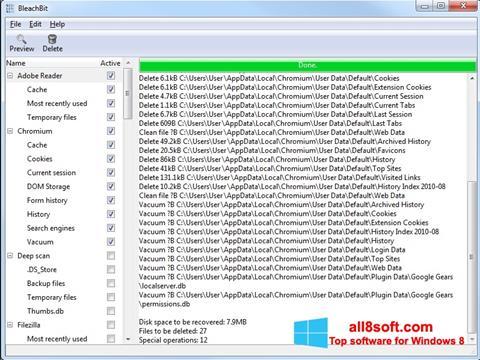 Screenshot BleachBit Windows 8