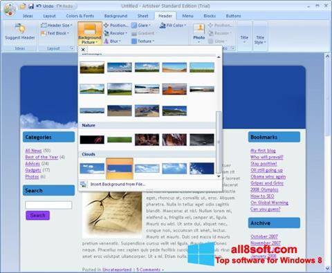 Screenshot Artisteer Windows 8